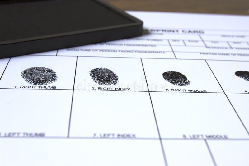 采看板卡的指纹 免版税库存图片