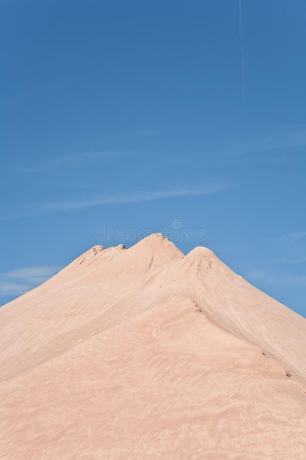采石坑的小山顶 库存图片