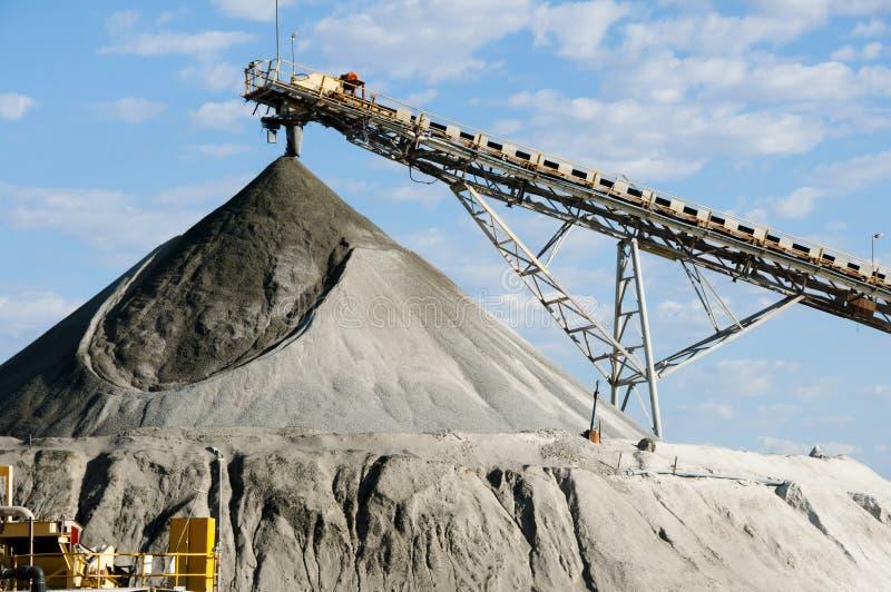 采矿的加工设备 库存照片