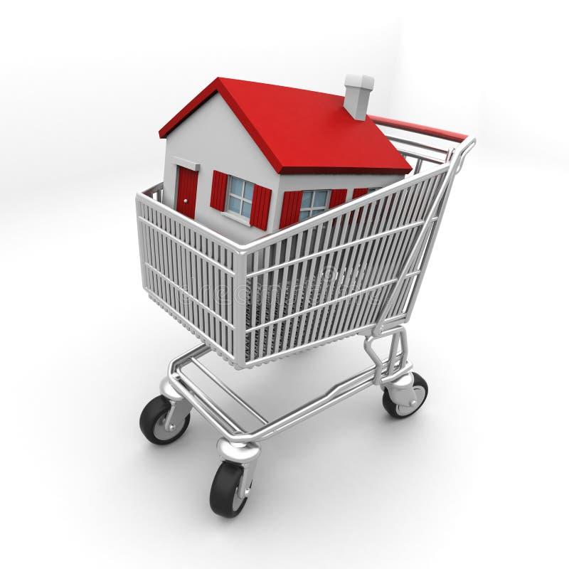 采购您的房子 库存例证