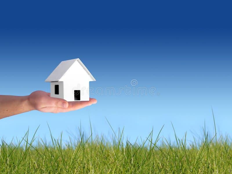 采购的概念房子 库存图片