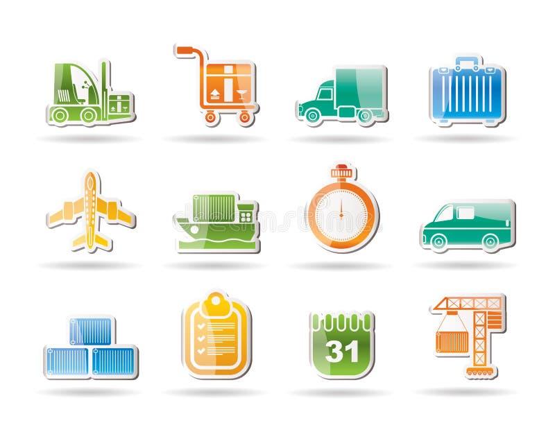 采购管理系统反对发运运输 向量例证