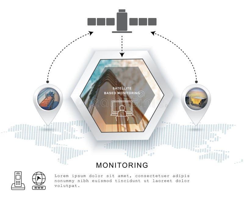 采购管理系统图标 电信息通信系统 E r 库存例证