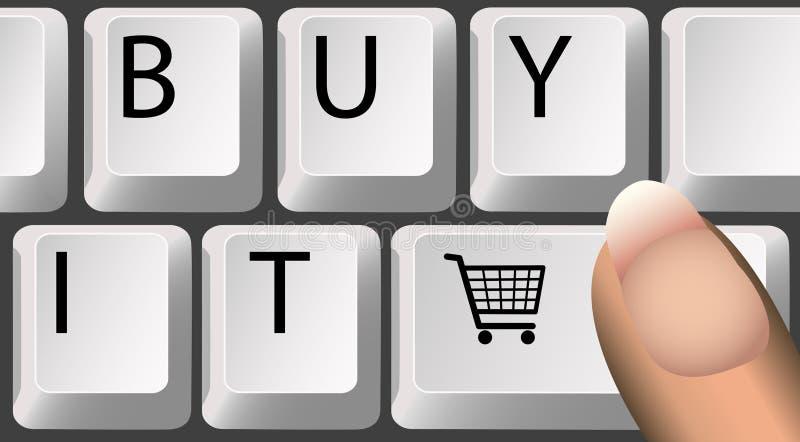 采购购物车关键字在线购物 库存例证