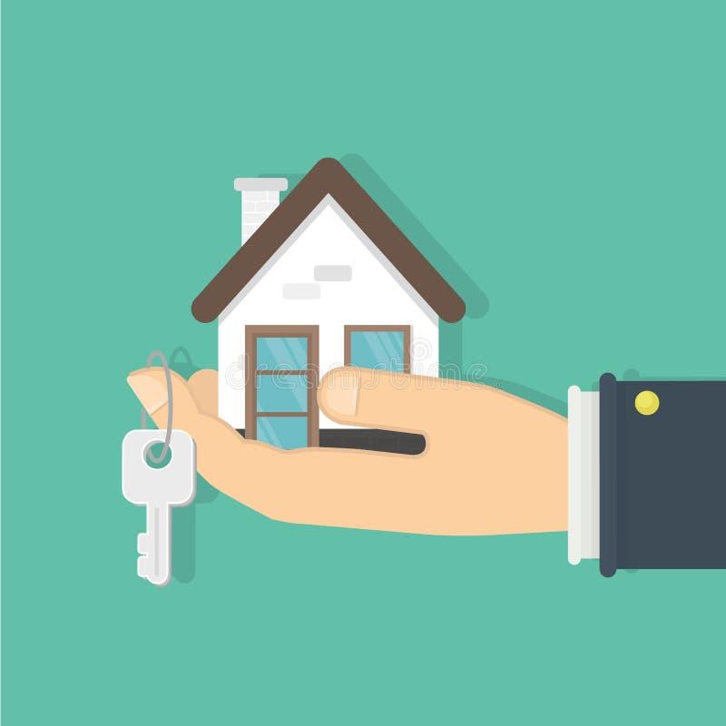 采购的房子 库存例证