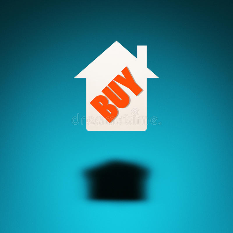 采购的房子 向量例证