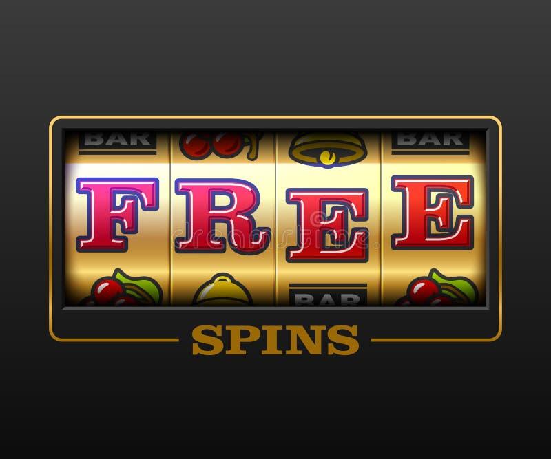 释放旋转bouns赌博娱乐场横幅 库存例证