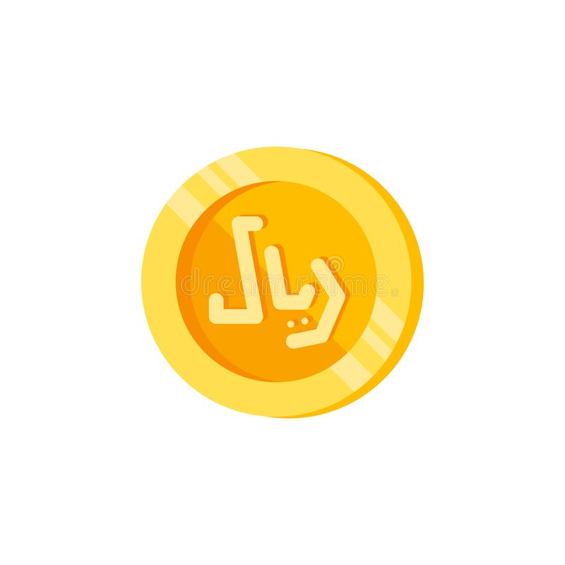 里亚尔,硬币,金钱颜色象 颜色财务标志的元素 优质质量图形设计象 标志和标志汇集 向量例证