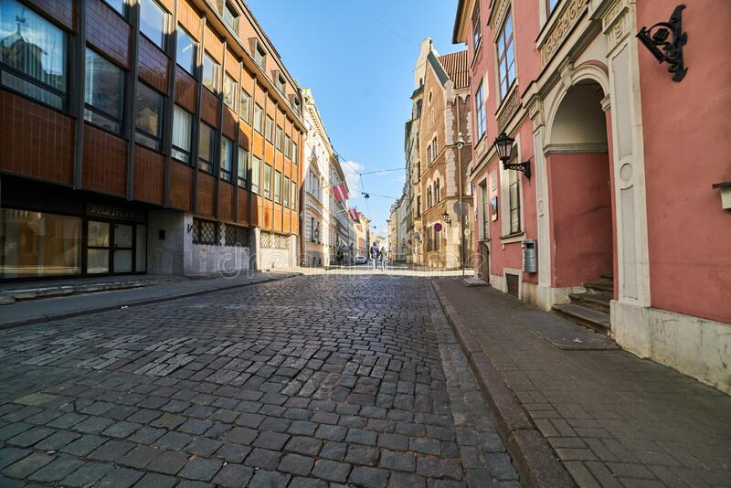 里加,拉脱维亚,欧洲中部的中世纪城市 库存照片