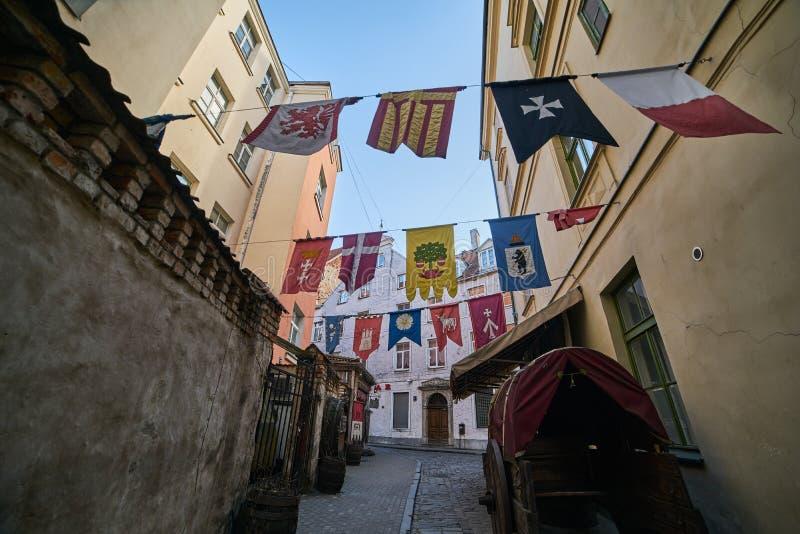 里加,拉脱维亚,欧洲中部的中世纪城市 库存图片