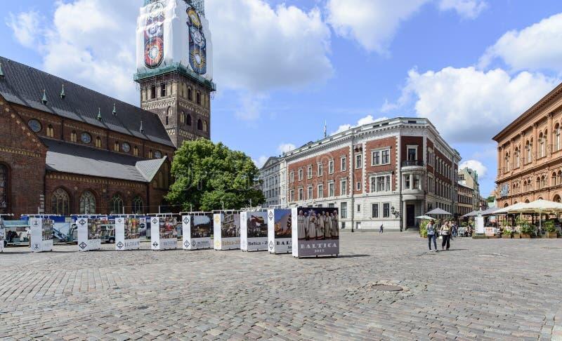 里加,拉脱维亚,欧洲,大教堂正方形 图库摄影