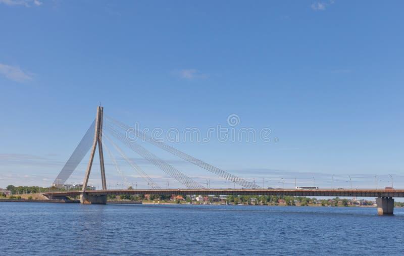里加,拉脱维亚Vansu桥梁  库存照片