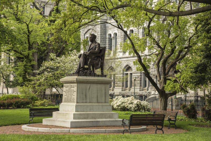 里士满历史的国会大厦正方形McGuire纪念碑 免版税库存照片