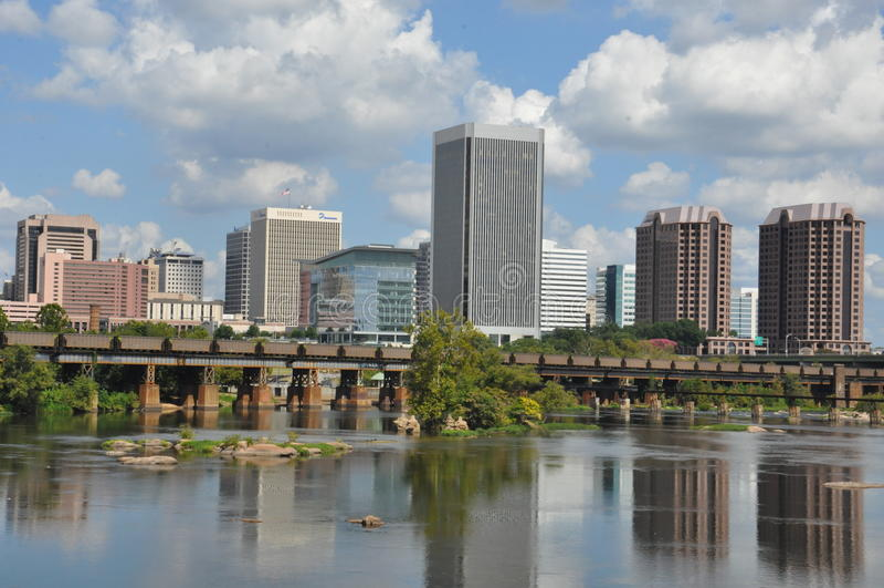 里士满地平线在弗吉尼亚 免版税库存照片