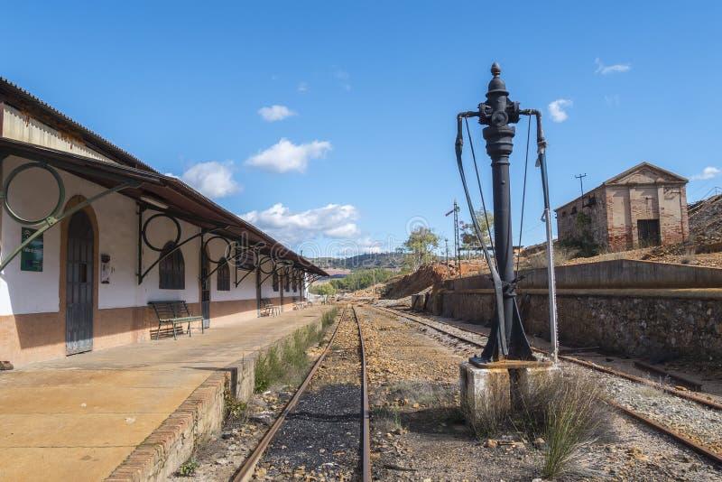 里奥廷托老矿的遗骸在韦尔瓦省西班牙 库存照片