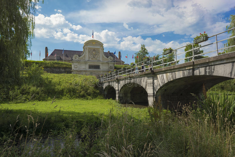 里尔,法国城堡  库存图片