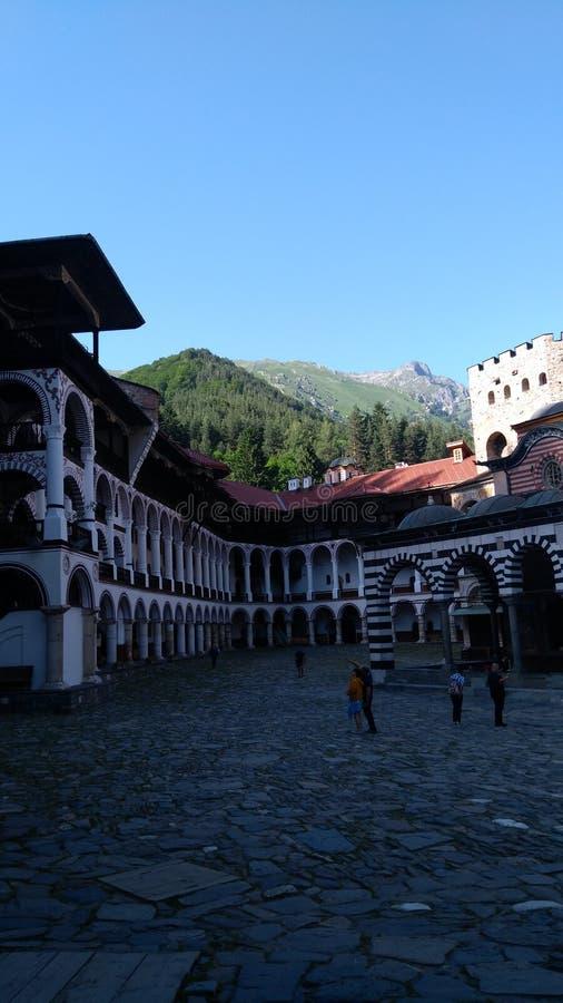 里拉山脉修道院  免版税库存照片