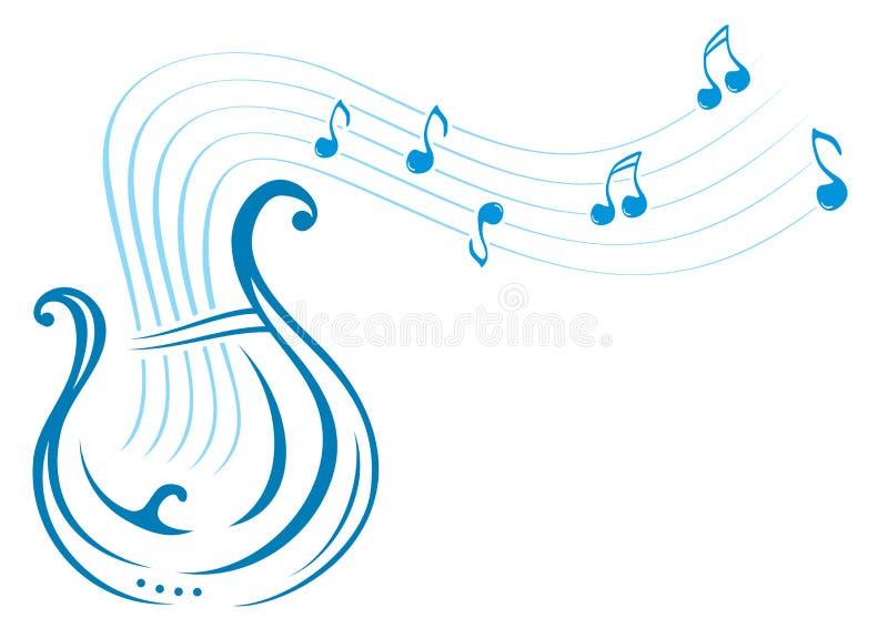 里拉琴音乐 库存例证