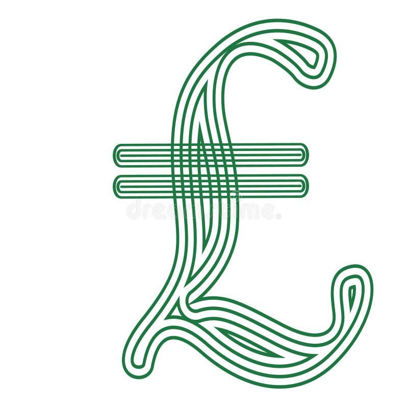 里拉镶边的意大利货币符号象 皇族释放例证