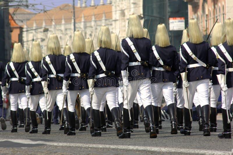 里斯本军事游行葡萄牙 库存图片