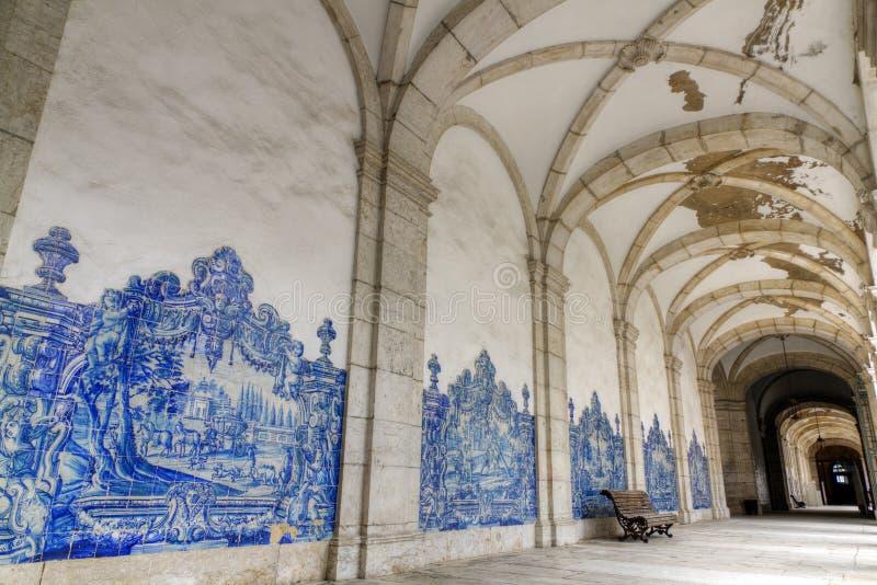 里斯本圣地的维森特教会修道院de 免版税库存图片