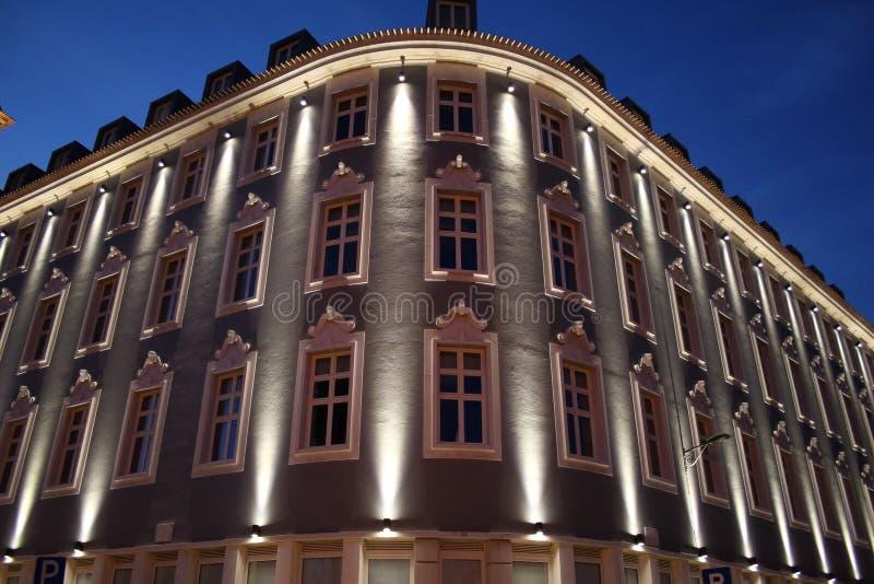 里斯本尼斯大厦在市中心 免版税库存照片