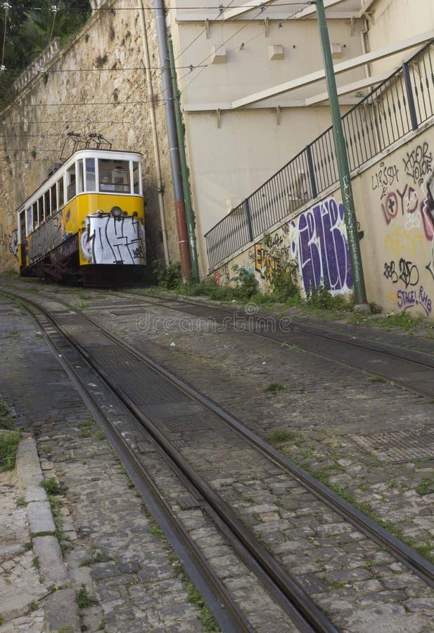 里斯本拉夫拉缆车 库存照片
