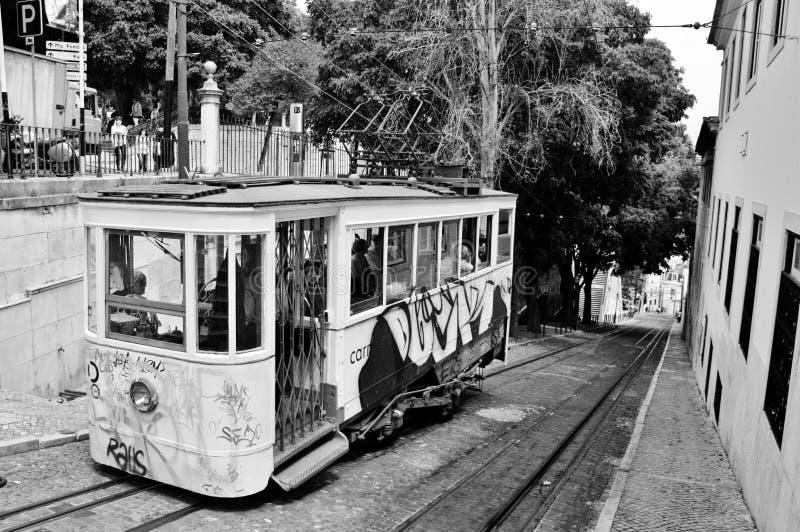 里斯本的电车 免版税库存图片