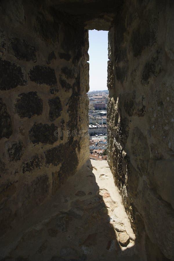 里斯本葡萄牙视图视窗 免版税库存图片