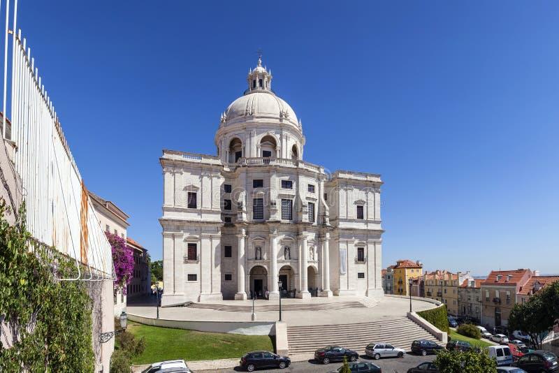 里斯本葡萄牙 亦称Panteao Nacional圣诞老人Engracia教会 免版税库存照片