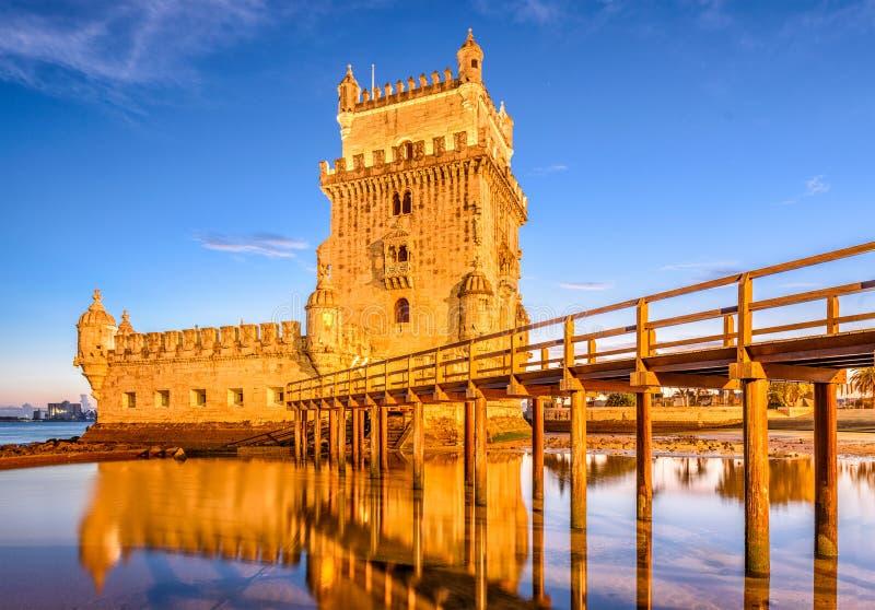 里斯本葡萄牙贝伦塔 免版税库存照片