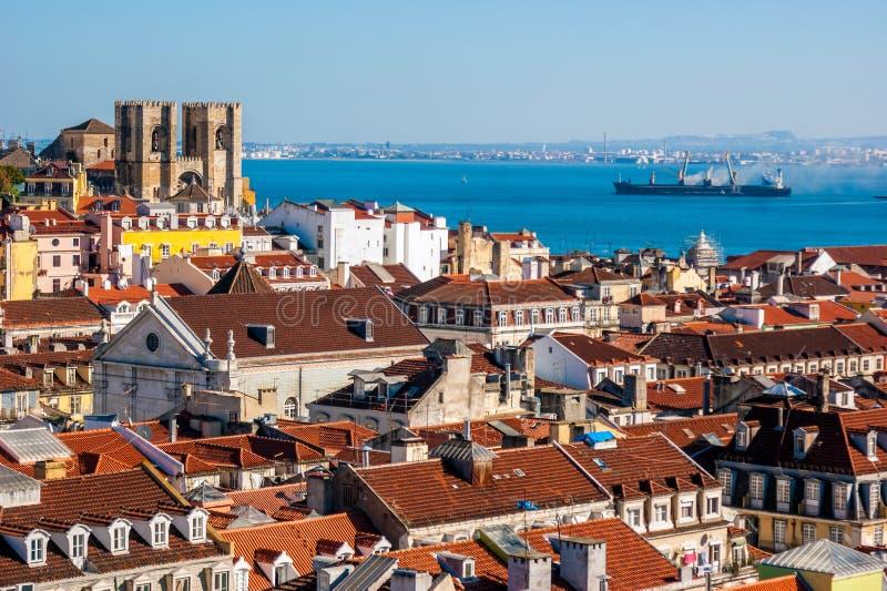 里斯本,葡萄牙全景 库存照片