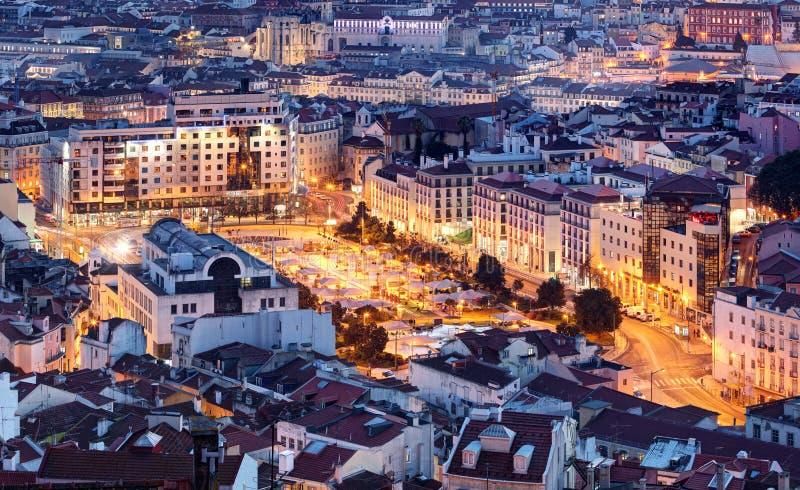里斯本,葡萄牙鸟瞰图 库存图片
