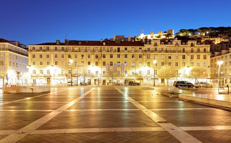 里斯本,葡萄牙- 2017年2月19日:Praca da Figueira英国 免版税图库摄影