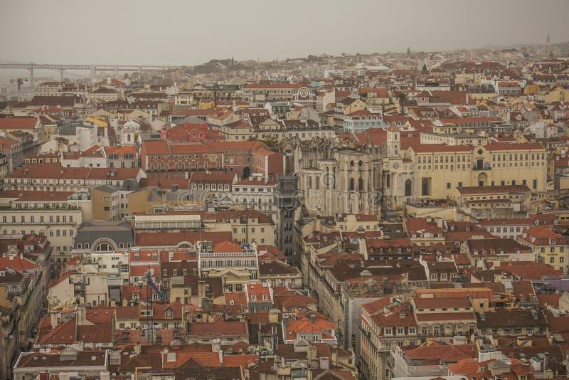 里斯本,葡萄牙-老镇的房子 库存照片