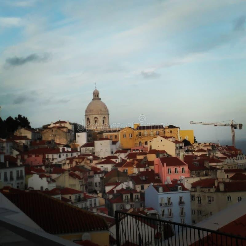 里斯本lisbonne欧洲葡萄牙旅行发现颜色房子 库存照片
