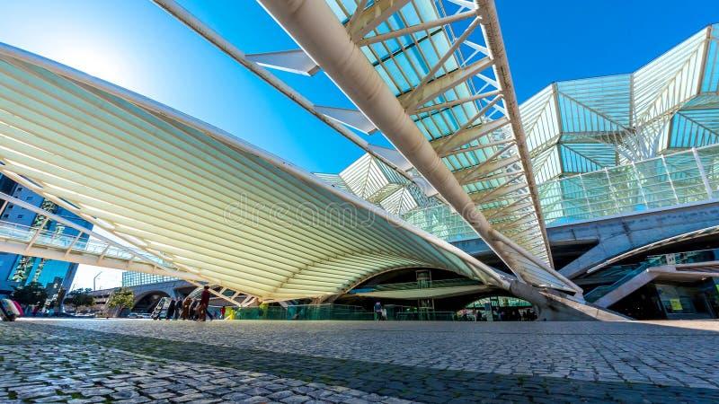 里斯本Oriente火车站 图库摄影