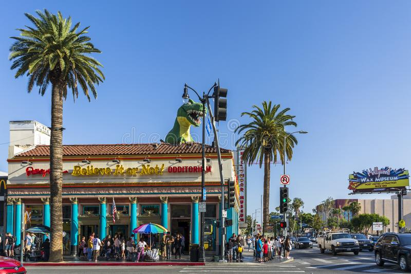 里普利的相信它!在好莱坞大道上,好莱坞,洛杉矶,加利福尼亚,美国,北部 免版税图库摄影