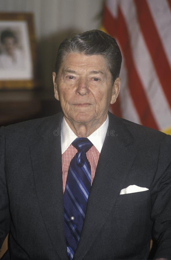 里根总统 图库摄影