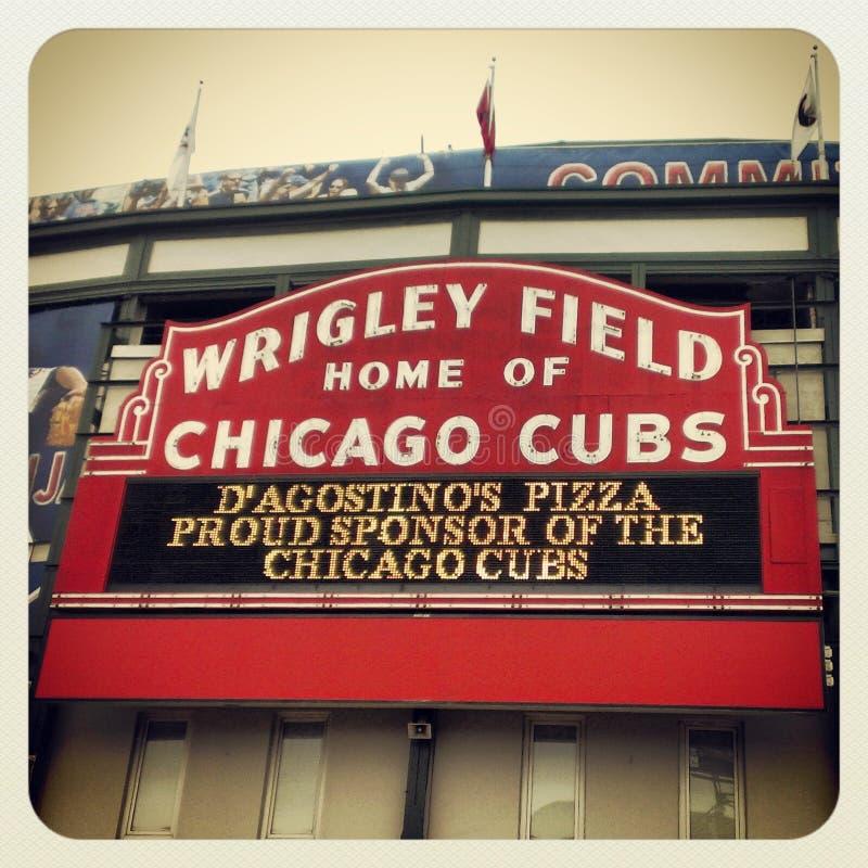 里格利调遣芝加哥Cub 库存图片