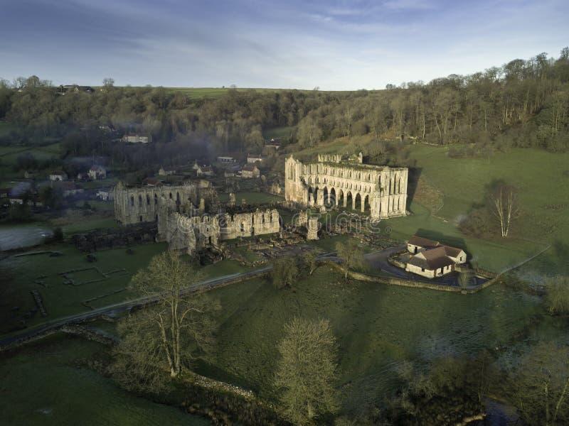 里沃兹修道院天线从南西部的 图库摄影