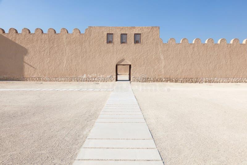 里法堡垒在巴林 免版税库存照片