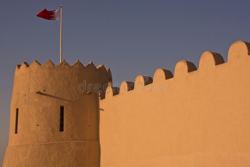 里法堡垒在巴林 图库摄影
