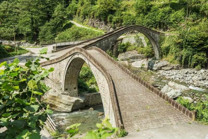 里泽,双重桥梁, çifte koprà ¼ 免版税库存照片
