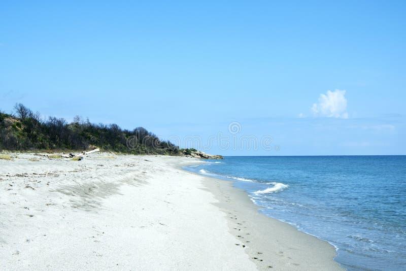 里瓦贝利亚海滩在科西嘉,法国 免版税图库摄影