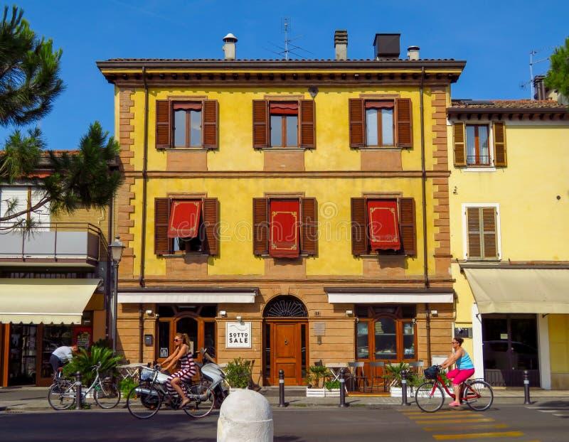 里米尼-城市建筑学  库存图片