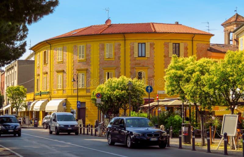 里米尼-城市建筑学  免版税图库摄影