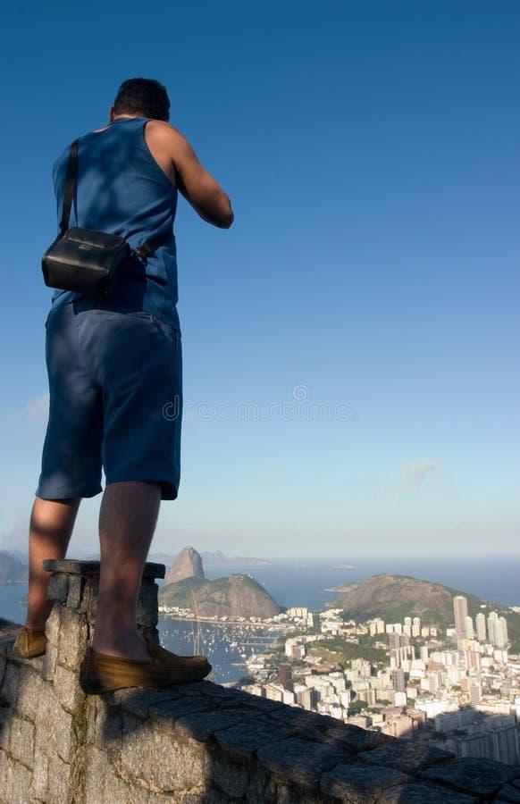 里约游人 免版税图库摄影