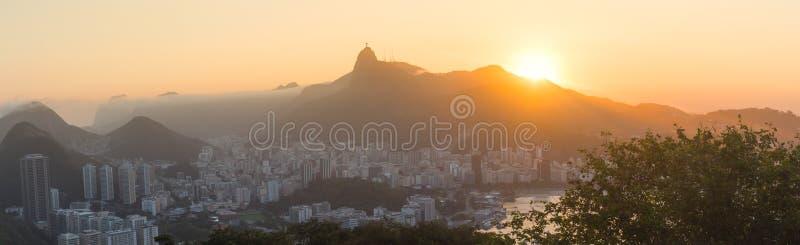 里约热内卢市-全景 免版税库存照片