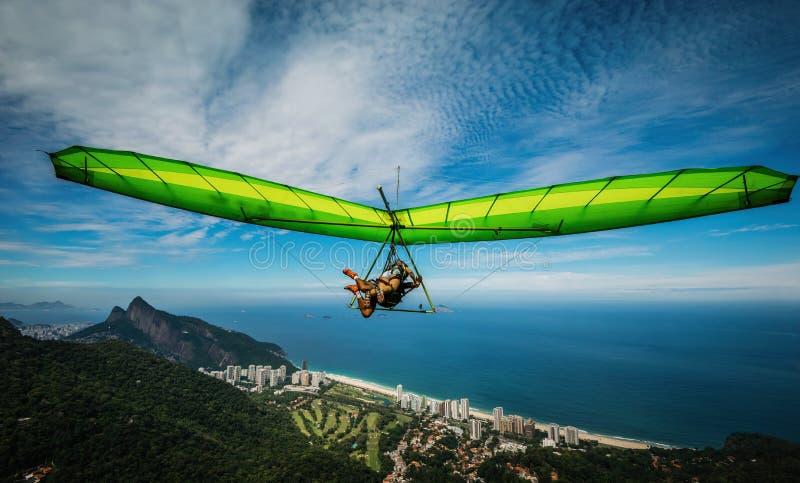 里约热内卢滑翔伞 库存照片